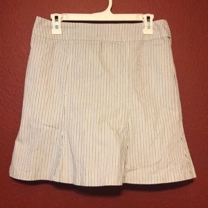 White House|Black Market striped fluted skirt